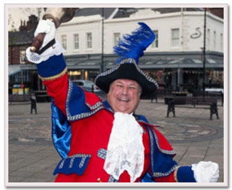 Colin W Ballard Traditional Town Crier.